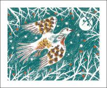 Winter Bird Linocut print by Emily Sutton
