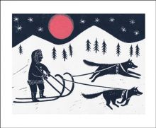 Sleigh Ride Linocut by Emily Sutton