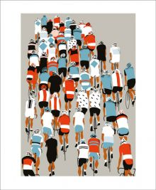 Peloton Screenprint by Eliza Southwood