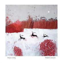 Deers running By Giuliana Lazzerini