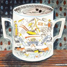 Victorian Crockery 'God Speed the Plough' Watercolour by Emily Sutton
