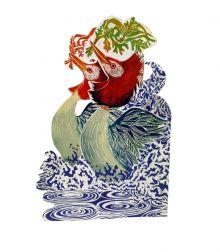 Dancing Grebes By Judy Lumley