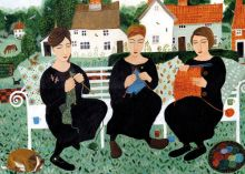 Village Knitters Dee Nickerson Greeting Card