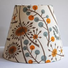 Handmade Modern Tapered Drum Lampshade in St Jude's Hedgerow fabric by Angie Lewin