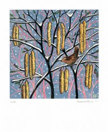 'Winter' linocut by Hannah Firmin