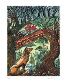 Earth Linocut by Hannah Firmin