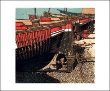 High Tide Linocut by H.J.Jackson
