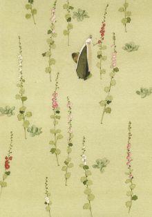 Hollyhocks By Laura Stoddart