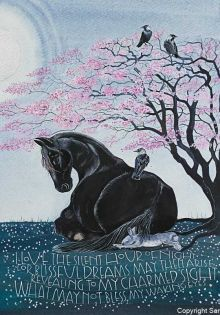 I love the silent hour of night. Art Card By Sam Cannon