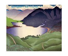 Loch Duich (1934) Woodcut by Ian Cheyne 1895-1955