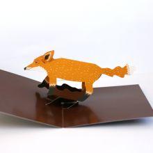 Fox Pop-up card by Faye Stevens