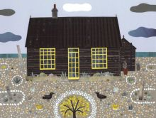 Derek Jarman - Greeting Card - Prospect Cottage - Naive Art - Collage - Beach Garden - Gay Rights - Sea - Writers Houses