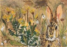 """A5 """"Snowdrops and Dandelions"""" By Clare O'Neill Artworks"""