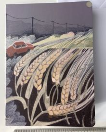 Katy Alston Greeting Card inspired by the poem 'Barley Child' by Jean Atkin.