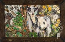A5 Cheddar Goats By Clare O'Neill Artworks