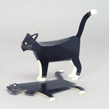 Black Cat Pop Up Card By Faye Stevens