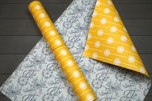 Angie Lewin Dandelion double sided giftwrap