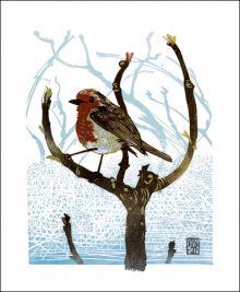 The Little Gardener Linocut print by Ian Phillips