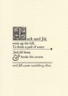 Jack and Jill Nursery Rhyme Greeting Card - Katie Leamon