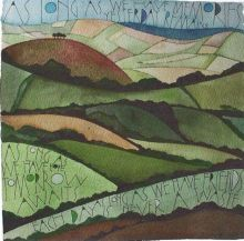 Jan's Hill SAM CANNON ART GREETINGS CARD