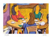 Having coffee By Javier Ortas