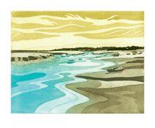Morston Creek Etching by John Brunsdon