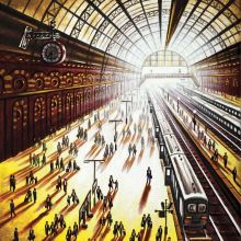 Arrival (King's Cross St Pancras Station) John Duffin Fine Art Greetings Cards