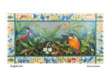 Kingfisher Duet Acrylic on gessoe panel by Jemima Jameson