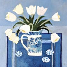 White Tulips Jill Leman RWS RBA Fine Art Greetings Cards