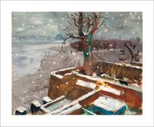 Snow at Durham Wharf, 1946 by Julian Trevelyan
