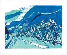 Le Tour de Force Linocut by Lisa Takahashi