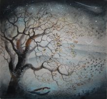 Leaves & stars Print By Flora McLachlan