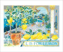 L is for Lemons   Screenprint by Emily Sutton