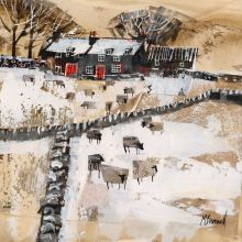 Dales Farm in the Snow by Mike Bernard