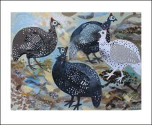 Guinea Fowl a collage by Mark Hearld
