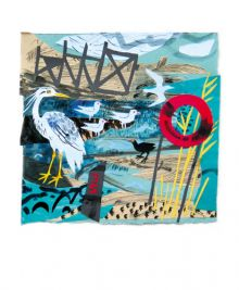 Heron Watching collage by Mark Hearld Art Greeting Card