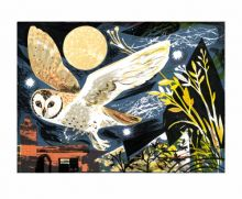 Mark Hearld Owl Flight lithograph -