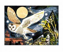 Mark Hearld Owl Flight lithograph -