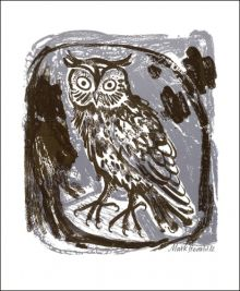 Owl by Mark Hearld Greeting Card