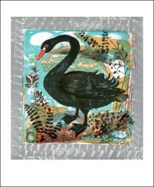 Menagerie Swan lithograph by Mark Hearld