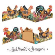 Chickens 3D die cut card Collage by Mark Hearld
