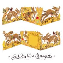 Hares 3D Die-Cut Card Collage by Mark Hearld