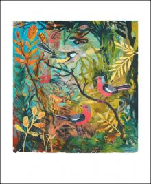 Great Tit and Chaffinches Collage by Mark Hearld
