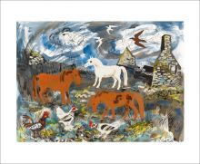 Ponies and Derelict Croft by Mark Hearld