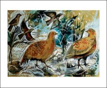 Partridges Collage by Mark Hearld