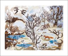 Winter Fox and Crows by Mark Hearld