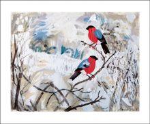 Bullfinches by Mark Hearld