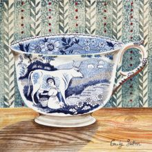 Victorian Crockery 'Milkmaid' Watercolour by Emily Sutton