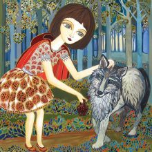 Little Red Riding Hood - Melissa Launay Fine Art Greetings Cards