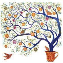 Sweet Pomegranate Tree - Melissa Launay Fine Art Greetings Cards